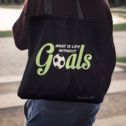 What Is Life Without Goals Linen Tote Bag AL91