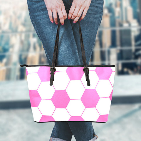 Soccer Hot Pink Leather Handbag