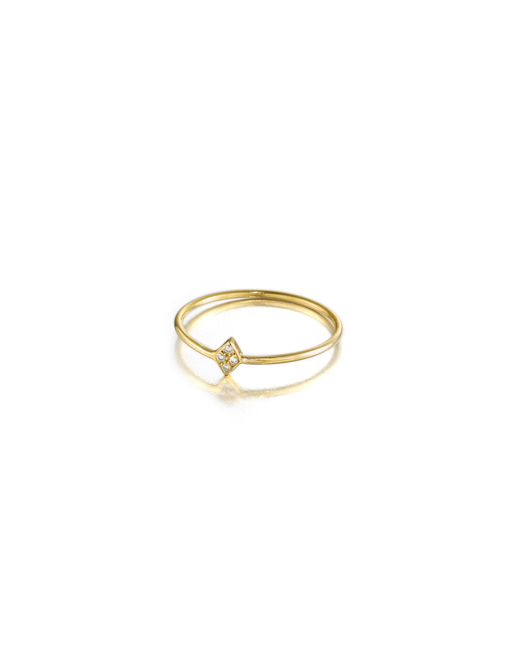 Diamond Shaped Diamond Ring, mini