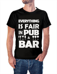 Bar quote design    round neck printed t-shirt