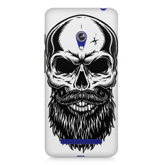 Skull with the beard  design,  Asus Zenfone 5 printed back cover