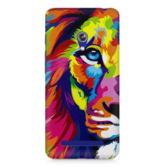 Colourfully Painted Lion design,  Asus Zenfone 5 printed back cover