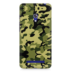 Camoflauge army color design Asus Zenfone 5 printed back cover