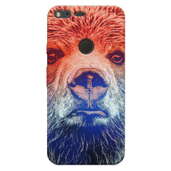 Zoomed Bear Design  Google Pixel XL hard plastic printed back cover