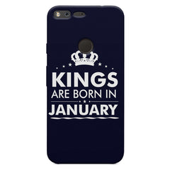 Kings are born in January design    Google Pixel XL hard plastic printed back cover