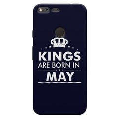 Kings are born in May design    Google Pixel XL hard plastic printed back cover