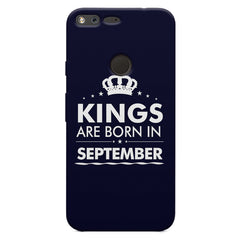 Kings are born in September design    Google Pixel XL hard plastic printed back cover