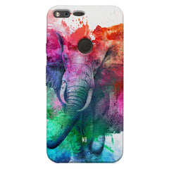 colourful portrait of Elephant Google Pixel XL hard plastic printed back cover