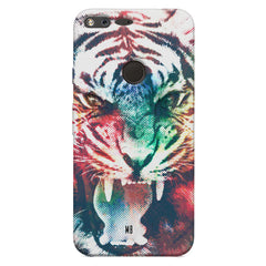 Tiger with a ferocious look Google Pixel XL hard plastic printed back cover