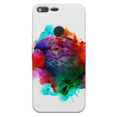 Colourful parrot design Google Pixel XL hard plastic printed back cover