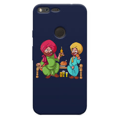 Punjabi sardars with chicken and beer avatar Google Pixel XL hard plastic printed back cover