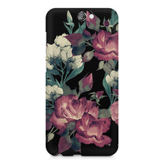 Abstract colorful flower design HTC One A9  printed back cover