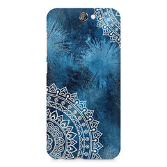 A Vivid Blue ethnic yet cool pattern HTC One A9 hard plastic printed back cover