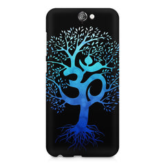 A beautiful blue tree with Om inscribed HTC One A9 hard plastic printed back cover