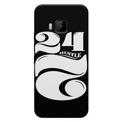 Always hustle design HTC one M9  printed back cover