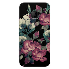 Abstract colorful flower design HTC one M9  printed back cover