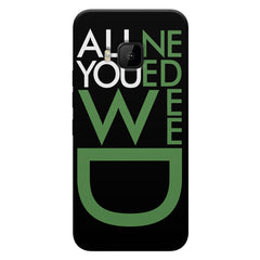 All you need weed design HTC One M9 printed back cover