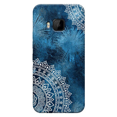 A Vivid Blue ethnic yet cool pattern HTC one M9 hard plastic printed back cover