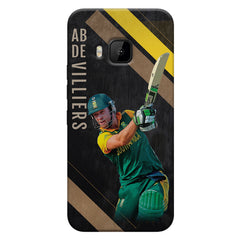 Ab De Villiers the Batting pose    HTC one M9 hard plastic printed back cover