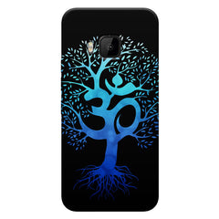 A beautiful blue tree with Om inscribed HTC one M9 hard plastic printed back cover