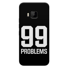 99 problems quote design HTC One M9 printed back cover