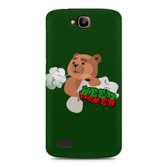 Weed Power Cute Bear Smoking Huwaei Honor Holly printed back cover