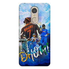 M.S Dhoni batting looks collage design    Lenovo k6 note hard plastic printed back cover