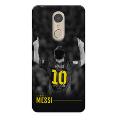 Messi Jersey 10 back view design    Lenovo k6 note hard plastic printed back cover
