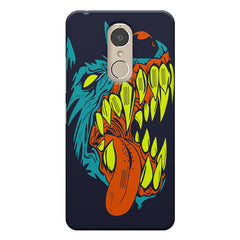 Scary yet funny dog cartoon design    Lenovo k6 note hard plastic printed back cover