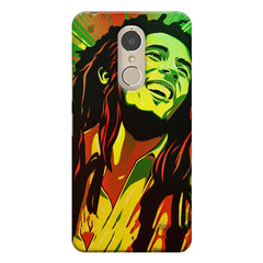 Bob Marley Multi colour fun Portrait Painting  capturing him in his happy avatar Lenovo k6 note hard plastic printed back cover