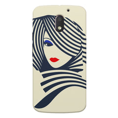 Fashionable girly design Moto E3 printed back cover