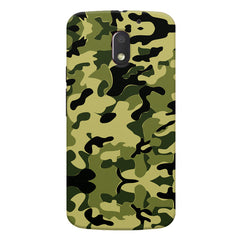 Camoflauge army color design Moto E3 printed back cover