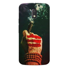 Smoke weed (chillam) design Moto E3 printed back cover