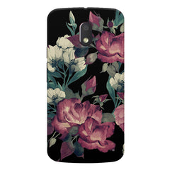 Abstract colorful flower design Moto E3 printed back cover