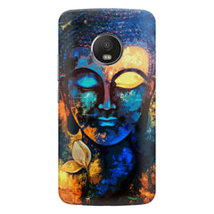 Beautiful Buddha abstract painting full of colors design  Moto G5s hard plastic printed back cover