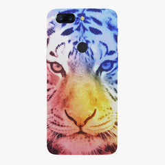 Colourful Tiger Design Oneplus 5T hard plastic printed back cover