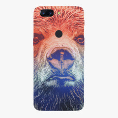 Zoomed Bear Design  Oneplus 5T hard plastic printed back cover