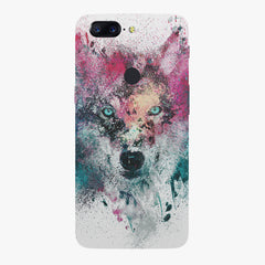 Splashed colours Wolf Design Oneplus 5T hard plastic printed back cover
