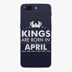 Kings are born in April design    Oneplus 5T hard plastic printed back cover