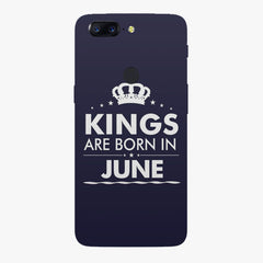 Kings are born in June design    Oneplus 5T hard plastic printed back cover