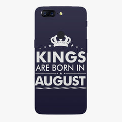 Kings are born in August design    Oneplus 5T hard plastic printed back cover