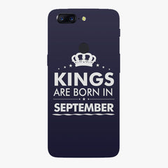 Kings are born in September design    Oneplus 5T hard plastic printed back cover