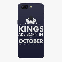 Kings are born in October design    Oneplus 5T hard plastic printed back cover