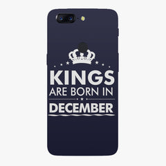 Kings are born in December design    Oneplus 5T hard plastic printed back cover