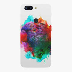 Colourful parrot design Oneplus 5T hard plastic printed back cover