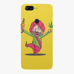 Sardar dancing with Beer and Marijuana  Oneplus 5T hard plastic printed back cover
