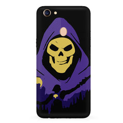 Evil looking skull design  Oppo F7 hard plastic all side printed back cover