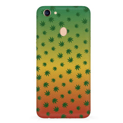 Multicolour leaf overall design Oppo F7 hard plastic all side printed back cover