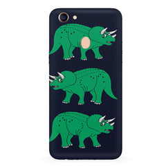 Stegosaurus cartoon design Oppo F7 hard plastic all side printed back cover