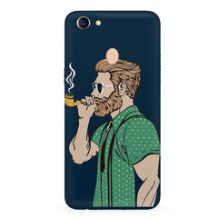Man smoking cigar Oppo F7 hard plastic all side printed back cover